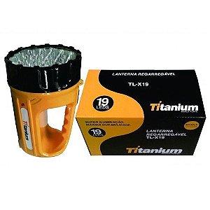 Lanterna Recarregável 19 LED BIV TL-X19 - titanium