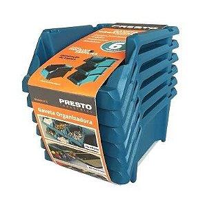 Gaveteiro Kit Azul Número 3 com 6 peças - Presto