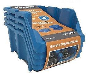 Gaveteiro Kit Azul Número 5 com 4 peças - Presto