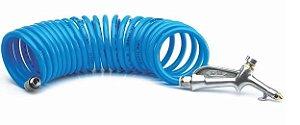Mangueira Espiral Azul de 5 metros com Bico para Limpeza - Steula