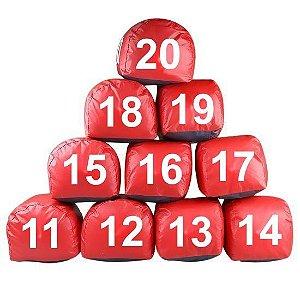 Jogo De Prisma Imantado Numerado De 11 A 20 Vermelho - Prisma Sul