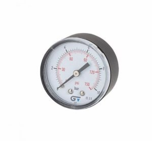 Manômetro Relógio 1/4  240PSI R.HORIZONT [- Genebre