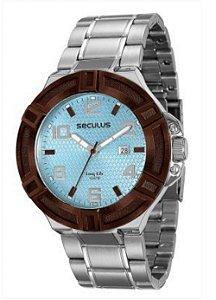 81bdecf7c5d Relógio Masculino Analógico Seculus 20337G0Svna1 – Cromado ...