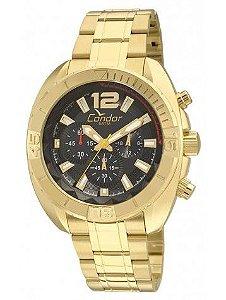12933c5be2e Relógio Condor Masculino COVD54AN 4P Dourado 100% Funcional