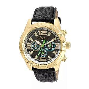 3fc7bcca26f Relógio Condor Masculino Civic COVD54AS 2P - Preto Couro
