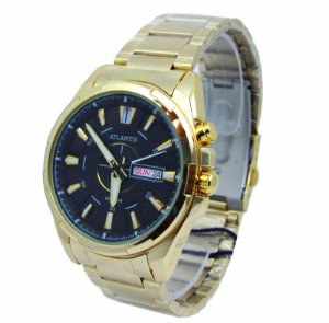 2d1e849ac55 Relogio Atlantis Masculino G3242 Fundo Preto - Atlantis Relógios