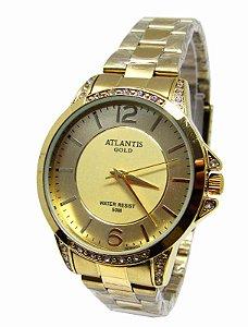 452ba26e1dd RELOGIO FEMININO ATLANTIS G3478 DOURADO FUNDO BRANCO - Atlantis Relógios