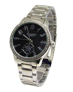 1bdcc8668a8 Relogio Atlantis Feminino G3337 Fundo Preto - Atlantis Relógios