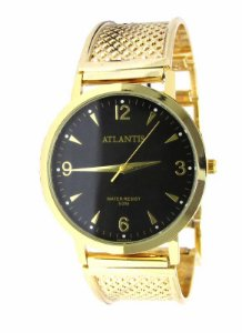 c4f425a4796 RELOGIO FEMININO ATLANTIS G3454 DOURADO FUNDO PRETO - Atlantis Relógios