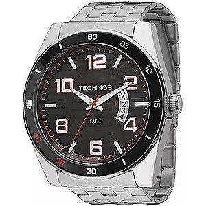 cfe419a2f32d4 Relógio Technos Masculino Connect Duo Prata preto P01aa 1p ...