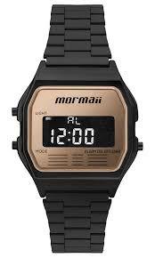 Relógio Mormaii Feminino Vintage Mojh02ak 4d Preto Dourado ... 98f6923deb