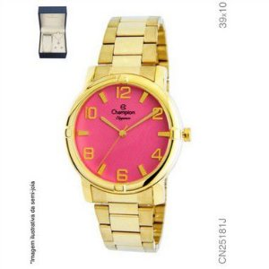 cc21e49299f Relógio Champion Analógico Feminino Cn25181j + Kit Semijóia