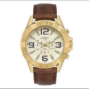8735a1829f4 Relógio Condor Masculino Civic Dourado COVD54BB 2D