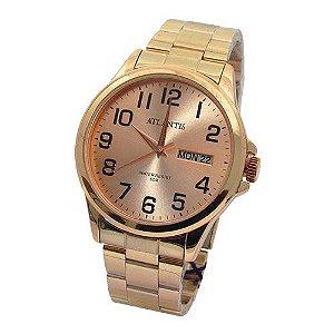 cdc115ea734 Relógio Mormaii Unissex Vintage Mojh02ao 4j Preto Rose - Atlantis ...