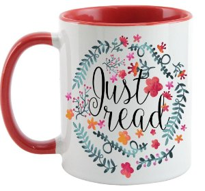 Caneca Bookstagram - Just Read - Red