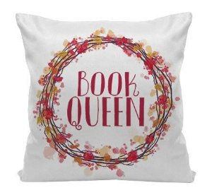 Almofada Bookstagram - Book Queen - Red