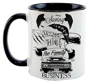 Caneca - Supernatural - Negócios de Família