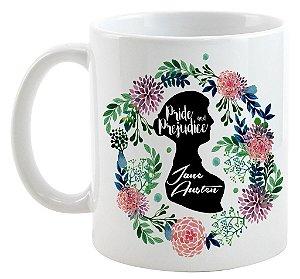 Caneca - Frase -  Jane Austen - Pride e Prejudice - Love You