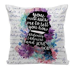 Almofada - Frase - Mr. Darcy - Jane Austen
