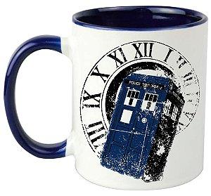 Caneca - Doctor Who - Tardis - Blue
