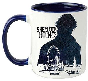 Caneca - Sherlock Holmes - Blue