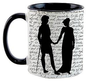 Caneca - Mr. Darcy e Elizabeth - Jane Austem