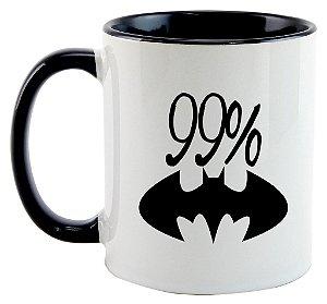 Caneca 99% Batman, mas 1% Superman