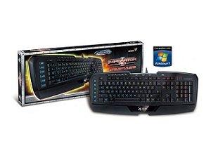Teclado Gx Gaming Genius Imperator Professional Mmo/Rts Iluminacão Usb 18 Pro