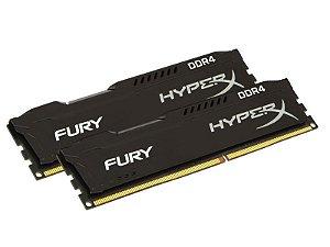 Memória Desktop Gamer Ddr4 Hyperx Fury 8Gb Kit(2X4Gb) 2133Mhz Black