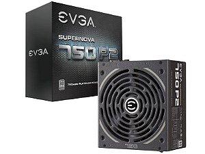 Fonte 80Plus Platinum Evga Supernova 750W P2 Ativo S/ Cabo De Força
