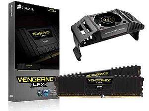 Memória Desktop Gamer Ddr4 Corsair 8Gb (2X4Gb) 4000Mhz Black + Cooler Airflow