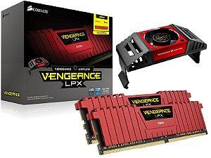Memória Desktop Gamer Ddr4 Corsair 8Gb (2X4Gb) 4000Mhz Red + Cooler Airflow