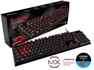 Teclado Gamer Hyperx Mecanico Alloy Fps Cherry Mx Blue, HX-KB1BL1-NA/A4