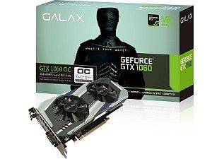 Placa de vídeo nvidia galax gtx 1060 oc dual fan 3gb ddr5 192bit 8008mhz