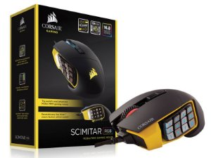 Mouse Gamer Corsair Scimitar Pro Rgb 16000Dpi Optico Preto/Amarelo