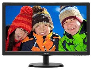 Monitor Led Philips 243V5Qhab 23,6 1920 X 1080 Full Hd Wide Vga Dvi Hdmi