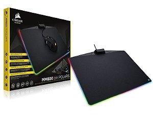 Mouse Pad Gamer Corsair Ch-9440020-Na Mm800 Medium 35,0 X 26,0Cm Rgb Polaris