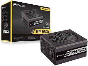 Fonte 80Plus Gold Corsair Cp-9020091-Ww Rmx 650W Atx Pfc Ativo Bivolt Modular