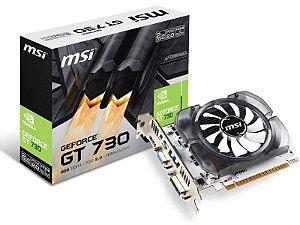 Placa de vídeo nvidia msi 912-V809-2261 gt 730 2gb ddr3 128Bit 1800Mhz