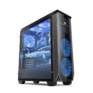 Gabinete (S/fonte) 2b Volcano Vc610-blue LED Azul Mazer Gamer