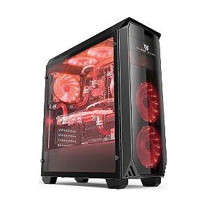 Gabinete (S/fonte) 2b Volcano Vc610-red LED Vermelho Mazer Gamer