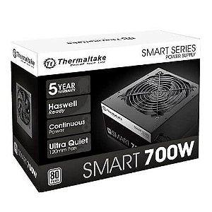 Fonte 80plus Thermaltake 700w smart series pfc ativo white PS-SPD-0700NPCWBZ-W