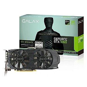 Placa de vídeo nvidia galax gtx 1060 ex OC 6gb gddr5 192 bits, 60NRH7DVM6EC