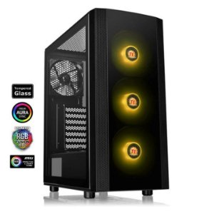 Gabinete Gamer Thermaltake J25 Tempered Glass RGB Mid Tower, CA-1L8-00M1WN-01