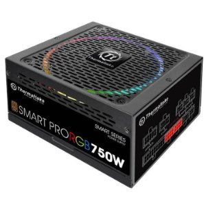 Fonte 80plus Thermaltake 750w smart pro RGB pfc ativo bronze, PS-SPR-0750FPCBBZ-R