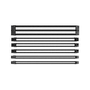 Cabo Thermaltake Sleeved mode preto/branco 300mm, AC-048-CN1NANA1