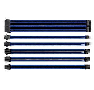 Cabo Thermaltake Sleeved mode preto/Azul 300mm, AC-035-CN1NANA1