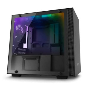 Gabinete Gamer NZXT H200I black RGB, CA-H200W-BB