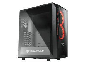 Gabinete Gamer Mid Cougar Turret, 2 Fan Frontal, Lateral em Vidro Temperado, 385QMY0.0001