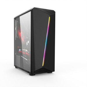 Gabinete Gamer Mid Liketec Lighting RGB, Lateral em Vidro Temperado